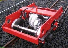 """Drehgestell 7"""" mit Motor und Blattfederung"""