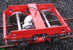 Drehgestell mit Motor und Blattfederung